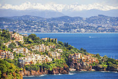 Aerial view of the French Riviera Royalty Free Stock Image