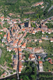 Aerial view of a french village Royalty Free Stock Photo