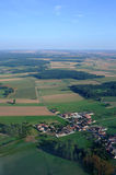 Aerial view of french village countryside Royalty Free Stock Photos