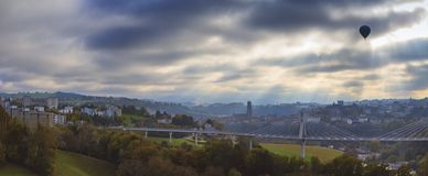 Aerial view of Fribourg, Switzerland Royalty Free Stock Photos