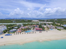 Free Aerial View From Meads Bay In Anguilla Beach, Caribbean Stock Photo - 96952020