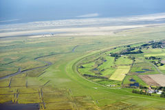 Free Aerial View From The Schleswig-Holstein Wadden Sea National Park Royalty Free Stock Photo - 44722205