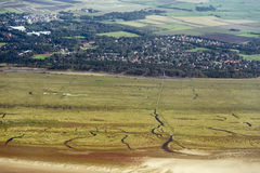Free Aerial View From The Schleswig-Holstein Wadden Sea National Park Stock Photography - 44722312
