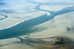 Free Aerial View From The Schleswig-Holstein Wadden Sea National Park Royalty Free Stock Image - 44722966
