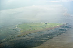 Free Aerial View From The Schleswig-Holstein Wadden Sea National Park Stock Photography - 44723532