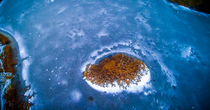 Aerial view of frozen lake Royalty Free Stock Images