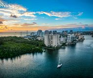 Aerial View of Ft. Lauderdale, Florida, USA Skyline royalty free stock images