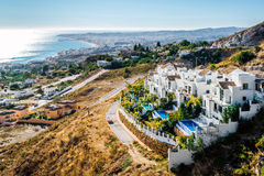 Aerial view of Fuengirola Royalty Free Stock Images