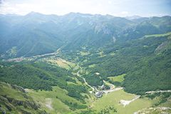Aerial view of Fuente De village Royalty Free Stock Photography