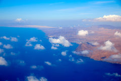 Aerial view of Fuerteventura at Canary Islands Royalty Free Stock Images