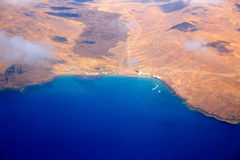 Aerial view of Fuerteventura at Canary Islands Stock Photo
