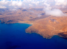 Aerial view of Fuerteventura at Canary Islands Royalty Free Stock Image