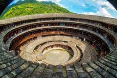 Aerial view of fujian tulou hakka roundhouse royalty free stock photos