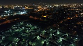 Aerial View of Futuristic Housing/Apartment Complex. Near Philadelphia stock footage