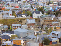 Aerial view of gabled roofs. In Ushuaia town, Argentina Royalty Free Stock Photo