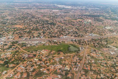 Aerial view of Gaborone Stock Photo