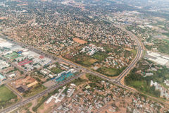 Aerial view of Gaborone Royalty Free Stock Images