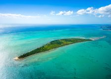 Aerial view of Gabriel island, Mauritius royalty free stock photo