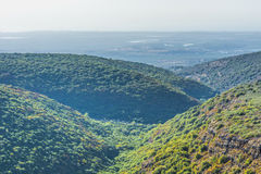 Aerial View of Galilee Mountains in Israel Royalty Free Stock Images