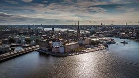 Aerial View of Gamla Stan stock images