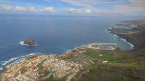 Aerial view of Garachico stock footage