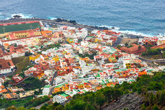 Aerial view of Garachico in Tenerife Royalty Free Stock Photography