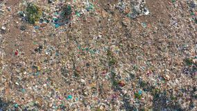 Aerial view. Garbage pile in trash dump. Environmental pollution from consumerism household. Aerial view. Garbage pile in trash dump. Environmental pollution stock video