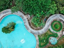 Aerial view of a garden Royalty Free Stock Photos