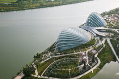 Aerial view of Gardens by the Bay Stock Images