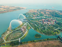 Aerial view of Gardens by the Bay Stock Photography