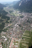 Aerial View of  Garmisch, Germany Royalty Free Stock Photos