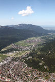 Aerial View of  Garmisch, Germany Royalty Free Stock Photography