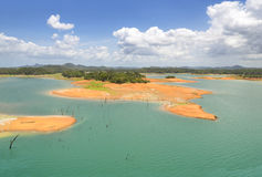 Aerial view of Gatun Lake, Panama Canal Royalty Free Stock Images