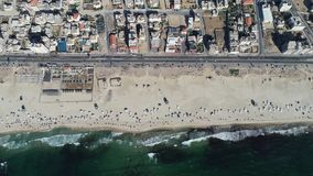 Aerial view of Gaza beach stock image