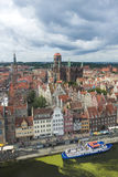 Aerial view of Gdansk Stock Photo