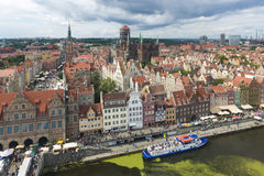 Aerial view of Gdansk city, Poland Royalty Free Stock Photography