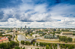 Aerial view from Gediminas tower Royalty Free Stock Image