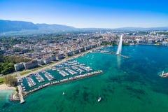 Aerial view of  Geneva city - Switzerland Royalty Free Stock Photography