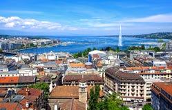 Aerial view of Geneva Stock Images