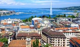 Aerial view of Geneva Stock Photography