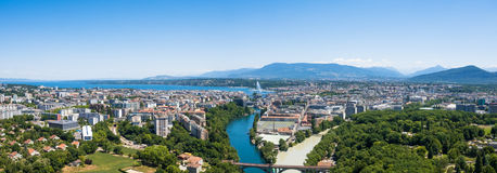 Aerial view of  Geneva in Switzerland. Aerial view of  Geneva city in Switzerland Stock Photography