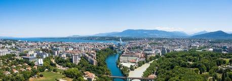Aerial view of  Geneva in Switzerland Stock Photography
