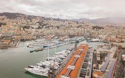 Aerial view of Genoa city Stock Photo