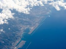 Aerial view of Genoa. Aerial view of the city of Genoa, Italy Stock Photo