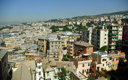 Aerial view of Genoa, Italy Royalty Free Stock Images