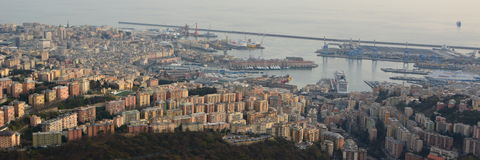 Aerial view. Genova. Liguria. Italy Stock Photos