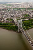 Aerial view of George Washington bridge, New York Stock Photos