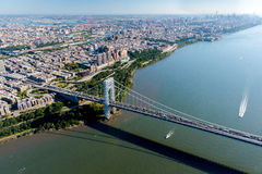 Aerial View of George Washington Bridge, New York/New Jersey Royalty Free Stock Photo