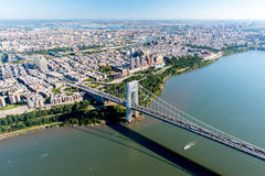 Aerial View of George Washington Bridge, New York/New Jersey Stock Photos