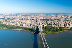 Aerial View of George Washington Bridge, New York/New Jersey Royalty Free Stock Images